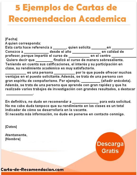 Carta Recomendación Académica
