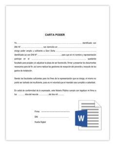 Carta poder word